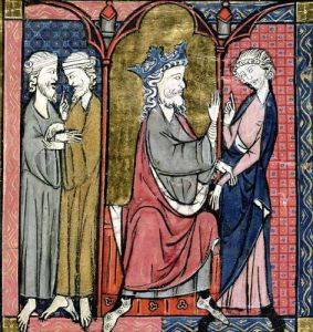 Charlemagne sending Ganelon to the Saragossan Kings c.1275 by French School