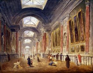 The Grande Galerie of the Louvre by Hubert Robert