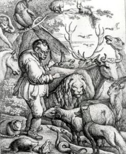 Illustration from the Introduction to Aesop's Fables 1666 by Francis Barlow