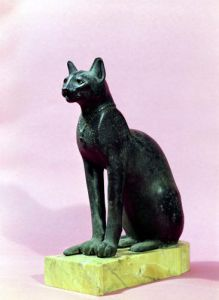 Sculpture of a cat by Egyptian Art