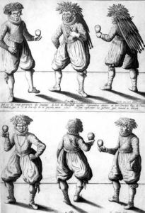 Members of the Tupinambras Tribe Taken to the King of France in Paris by Joachim Duviert