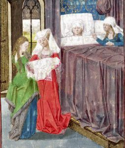 The Birth of Louis in 1187 by French School