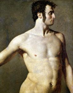 Male Torso c.1800 by Jean-Auguste-Dominique Ingres