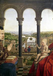 The Rolin Madonna c.1435 by Jan Van Eyck