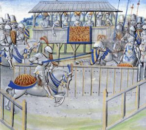 A Tournament in London' Jousting from 'Froissart's Chronicles' by French School