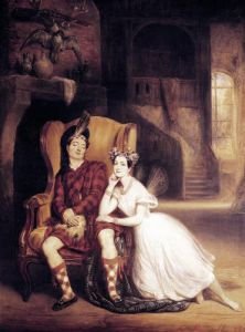 Marie and Paul Taglioni in the ballet 'La Sylphide' 1832 by Francois Gabriel Guillaume Lepaulle