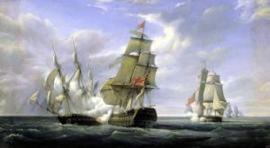 La Canonniere v. The Tremendous 1835 by Pierre Julien Gilbert