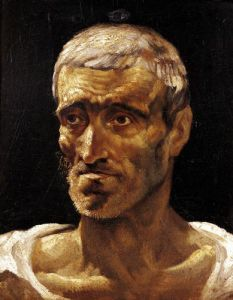 Head of a Shipwrecked Man 1817 by Jean-Louis-André-Théodore Géricault