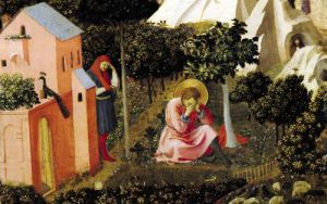 The Conversion of St. Augustine by Attributed to Fra Angelico