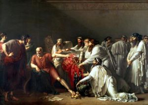Hippocrates Refusing the Gifts of Artaxerxes I 1792 by Anne Louis Girodet de Roucy-Trioson