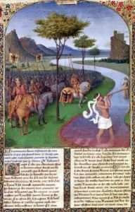 Julius Caesar Crossing the Rubicon c.1470 by Jean Fouquet