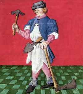 The Blacksmith from 'Le Livre des Echecs Moralises by French School