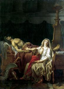 The Pain of Andromache 1783 by Jacques-Louis David