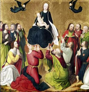 The Virgin in Glory with the Apostles by Master of the Lyversberg Passion