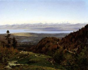 Mont-Blanc seen from Saint-Cergues 1869 by Francois Louis Francais
