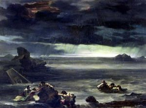 Scene of the Deluge 1818 by Jean-Louis-André-Théodore Géricault