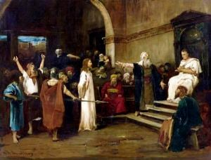 Christ Before Pilate 1880 by Mihaly Munkacsy