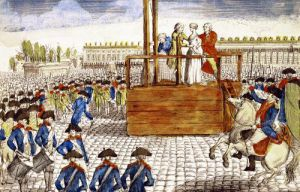 Execution of Marie-Antoinette in the Place de la Revolution 1793 by French School