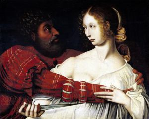 Tarquin and Lucretia by Jan Massys