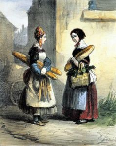 The Baker's Art plate 27 'Les Femmes de Paris' 1841 by Alfred Andre Geniole