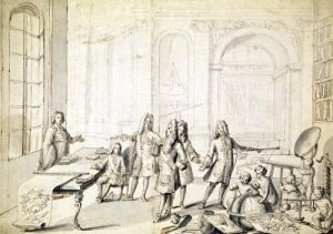 Study for a Lesson being give to the Young Louis XV by French School