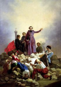 Archbishop Affre on the Barricades 1848 by Anonymous
