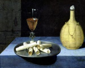 The Dessert of Wafers by Lubin Baugin