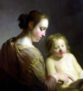 The Virgin Teaching the Infant Christ to Read c.1630 by Pieter Fransz Grebber