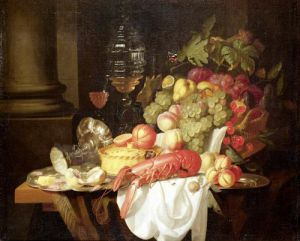 Still Life with Lobster by Johannes Hannot