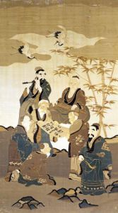 Seven wise men in the bamboo forest by Art du Japon
