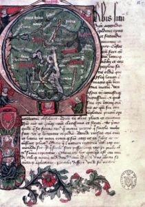 Historiated initial 'O' depicting Earth from 'De Situ Orbis' by French School
