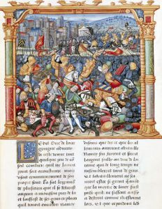Battle of Nancy in 1477 by French School