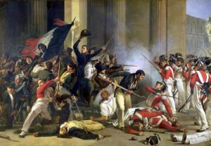 Scene of the 1830 Revolution at the Louvre by Jean Louis Bezard
