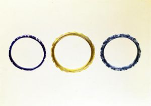 Photograph of Three bracelets from Mathay-Mandeure by Protohistoric