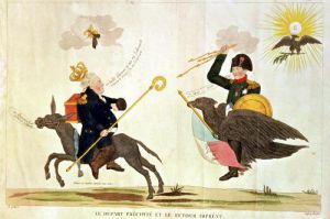 Caricature of the 'Hundred Days' 1815 by French School