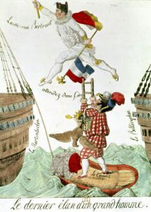 The Last Leap of a Great Man 1815 by French School