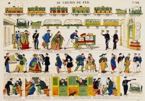 Rail Travel c.1850 by French School