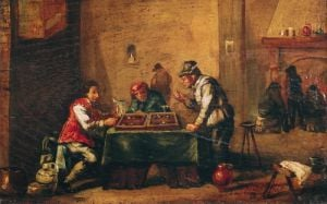 Men Playing Backgammon in a Tavern by David Teniers the Younger