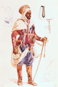 Spahi with his sword c.1854 by Francois-Hippolyte Lalaisse