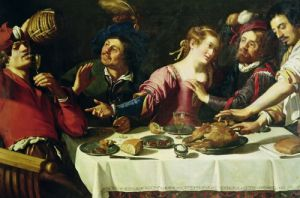 The Meal by Theodor Rombouts