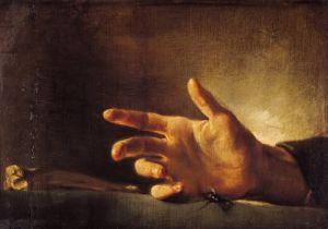 Study of a Hand by Jean-Louis-André-Théodore Géricault
