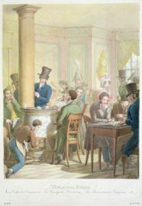 The Cafe de Commerce from 'Tableau de Paris' by Georg Emanuel Opitz