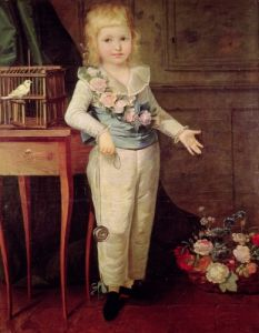 Portrait Presumed to be Louis XVII playing with a Yo-Yo by French School