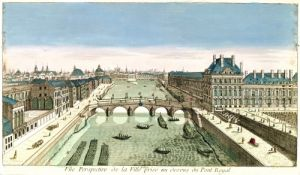 Perspective View of Paris from the Pont Royal by French School