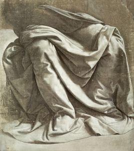 Study of Drapery by Leonardo da Vinci