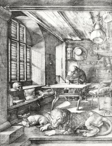 St. Jerome in his Study 1514 by Albrecht Dürer