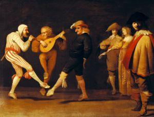 Farce Actors Dancing by Pieter Jansz Quast