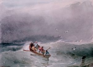 Seascape by Richard Parkes Bonington