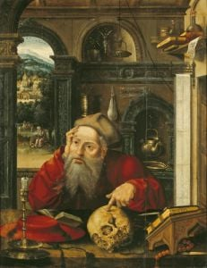 St. Jerome in his Study by Flemish School