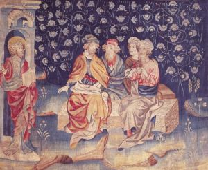 Discussion of the Resurrection 1373 by Nicolas Bataille